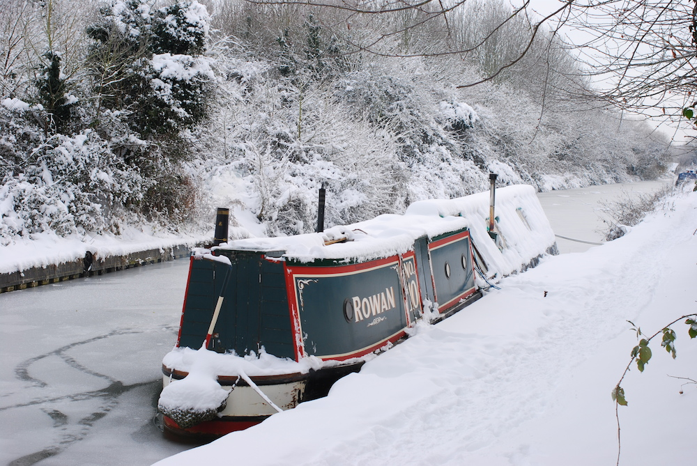 Oxford Canal in the Snow