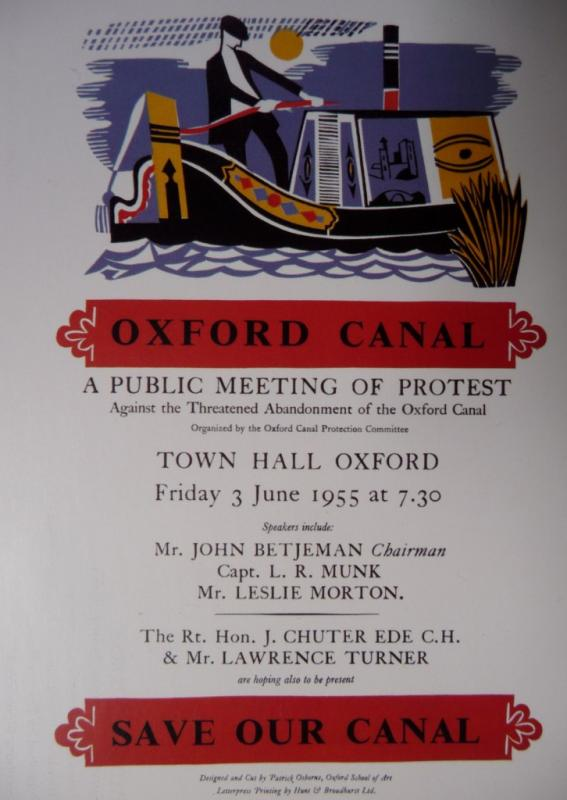 Save our canal meeting poster