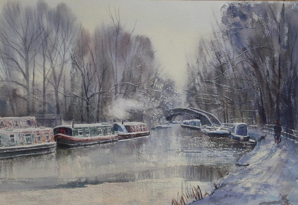 Valerie Petts - Canal in Snow