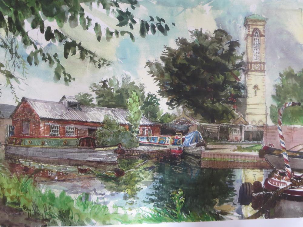 Colin Dick - Old Jericho Boatyard & St Barnabas Church