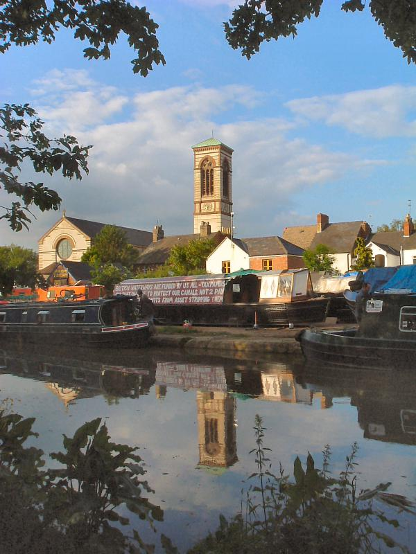 Oxford Canal and St Barnabas Church Sunset