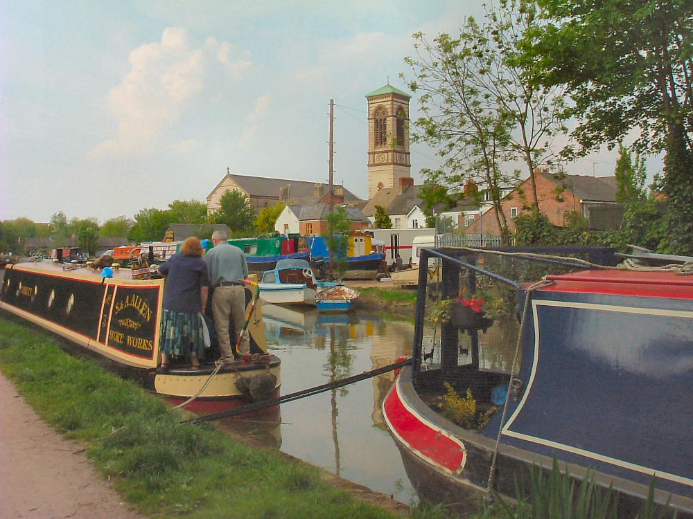 Oxford Canal and St Barnabas Church